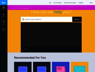help.aol.com screenshot