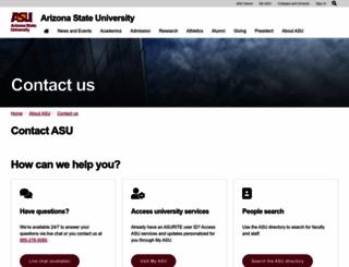 help.asu.edu screenshot
