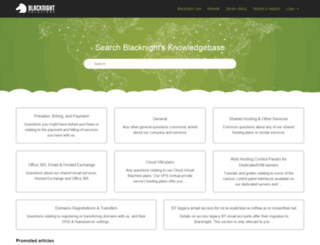 help.blacknight.com screenshot