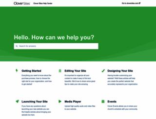 help.cloversites.com screenshot