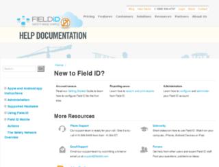 help.fieldid.com screenshot