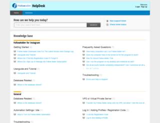 help.followadder.com screenshot