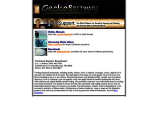 help.geckosoftware.com screenshot