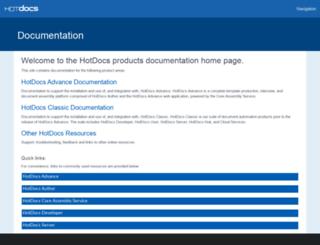 help.hotdocs.com screenshot