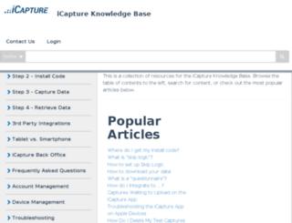 help.icapture.com screenshot