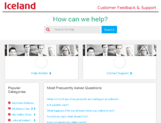 help.iceland.co.uk screenshot