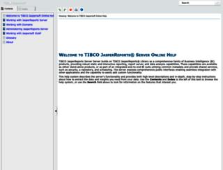 help.jaspersoft.com screenshot