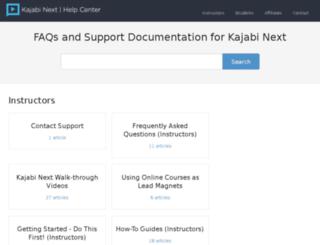 help.kajabinext.com screenshot