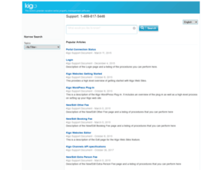 help.kigo.net screenshot