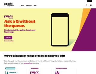 help.koodomobile.com screenshot