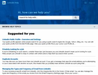 help.linkedin.com screenshot