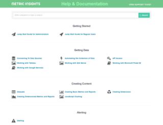help.metricinsights.com screenshot