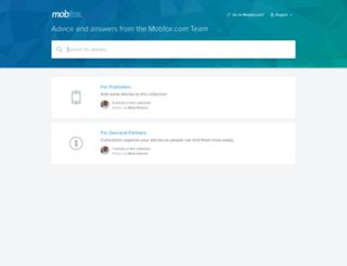 help.mobfox.com screenshot
