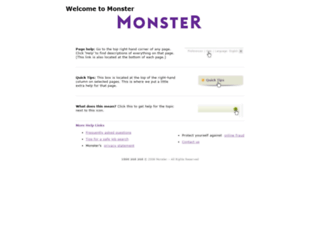 help.monster.ie screenshot