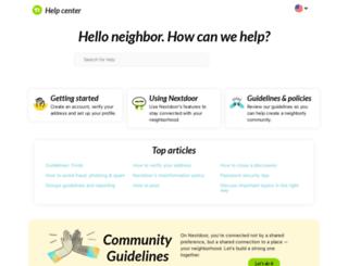 help.nextdoor.com screenshot