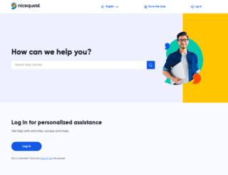 help.nicequest.com screenshot
