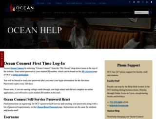 help.ocean.edu screenshot