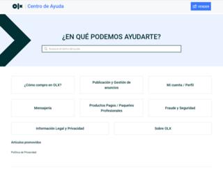 help.olx.com.co screenshot