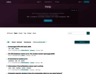 help.openerp.com screenshot