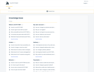 help.outfittery.com screenshot