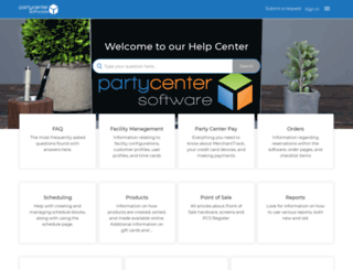help.partycentersoftware.com screenshot
