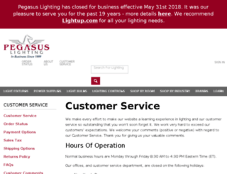 help.pegasuslighting.com screenshot