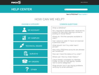help.pinchme.com screenshot