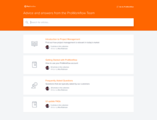 help.proworkflow.com screenshot