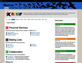 help.riseup.net screenshot