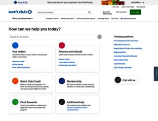help.samsclub.com screenshot