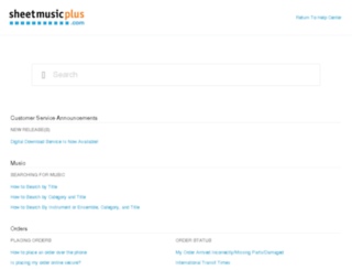 help.sheetmusicplus.com screenshot