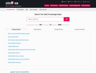 help.site5.com screenshot