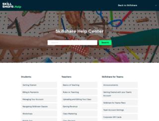 help.skillshare.com screenshot
