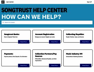help.songtrust.com screenshot