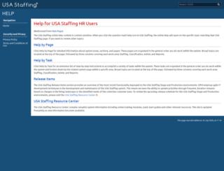 help.usastaffing.gov screenshot