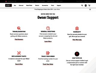 help.weber.com screenshot