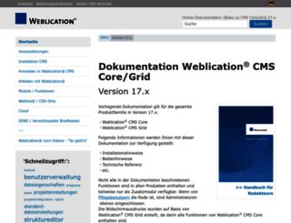 help.weblication.de screenshot