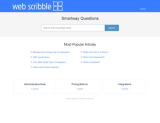 help.webscribble.com screenshot