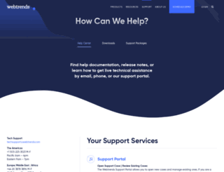 help.webtrends.com screenshot