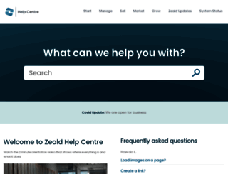 help.zeald.com screenshot