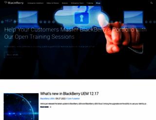 helpblog.blackberry.com screenshot