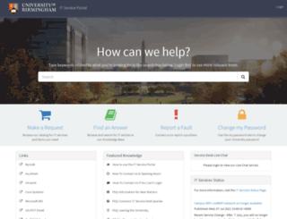 helpdesk.bham.ac.uk screenshot
