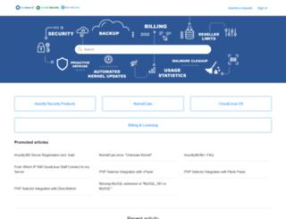 helpdesk.cloudlinux.com screenshot