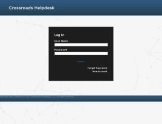 helpdesk.crossroads.net screenshot