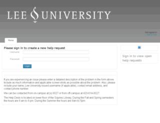helpdesk.leeuniversity.edu screenshot