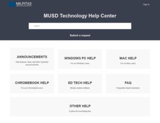 helpdesk.musd.org screenshot