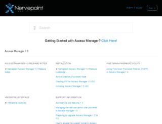 helpdesk.nervepoint.com screenshot