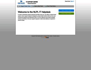 helpdesk.nlpl.ca screenshot