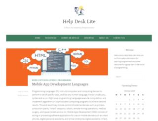 helpdesklite.com screenshot
