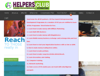 helpersclubinternational.com screenshot